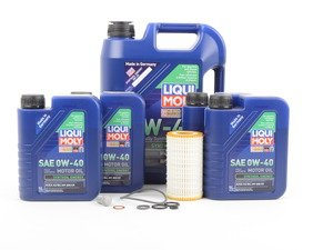 ES#2588640 - 20492050KT1 - Engine Oil Service Kit - With 0W-40 Engine Oil - Everything you need to perform an engine oil service - Liqui-Moly - Mercedes Benz