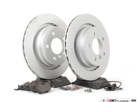 ES#2588517 - 34351181344KT - Rear Brake Service Kit - Featuring Pagid coated rotors and Pagid pads - Assembled By ECS - BMW