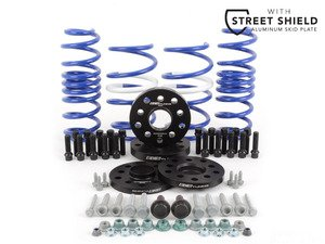 ES#2996686 - 014249ecs01KT2 - ECS StanceEnhance Kit With VWR Race Springs & ECS Street Shield - Featuring ECS Flush Kit and Volkswagen Racing Lowering Springs while adding protection with the ECS Tuning ALuminum Street Shield - Assembled By ECS - Volkswagen