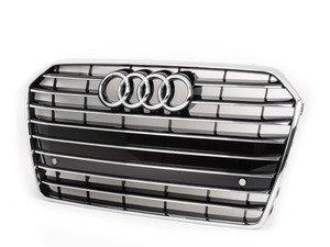 ES#2844668 - 4G0853651AGT94 - Grille Assembly - Gloss Black - Includes Audi rings logo - Genuine Volkswagen Audi - Audi
