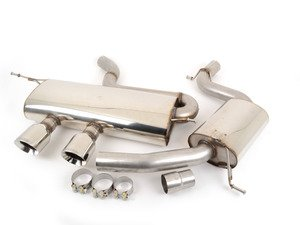 """ES#2828183 - SSXVW169 - R32 Style 2.75"""" Cat-Back Exhaust System - Resonated  - Get that Exhaust tone you've been looking for, features polished """"GT100"""" style tips! - Milltek Sport - Volkswagen"""