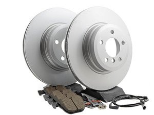 ES#2777488 - 34216793246KT6 - Rear Brake Service Kit  - Featuring Meyle rotors and Akebono pads - Assembled By ECS - BMW