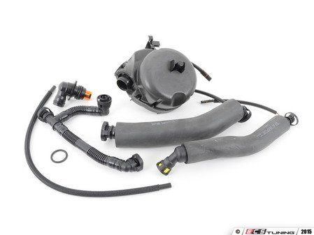 ES#2804752 - 11617531423KT2 - Oil Separator Service Kit - Includes valve and all necessary hoses - Assembled By ECS - BMW
