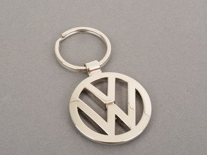 ES#2697429 - DRG06684 - Polished Keychain  - In the shape of the Volkswagen logo. - Genuine Volkswagen Audi - Volkswagen