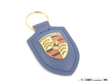 ES#2748378 - WAP0500950E - Dark Blue Crested Key Fob - Key ring to organize all of your keys, while showing Zuffenhausen pride - Genuine Porsche - Porsche