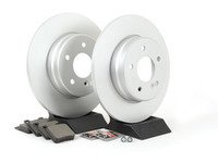 ES#2772158 - 0044209220KT8 - Rear Brake Service Kit - Featuring Meyle Rotors And Meyle Ceramic Pads - Assembled By ECS - Mercedes Benz