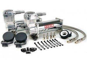 ES#3971143 - 16444ktKT1 - Viair 444C Dual Pack Compressor - 200 PSI - Chrome - With Harness - Two 12v compressors with a duty cycle of 100% & 200psi max pressure - Air Lift - Audi BMW Volkswagen