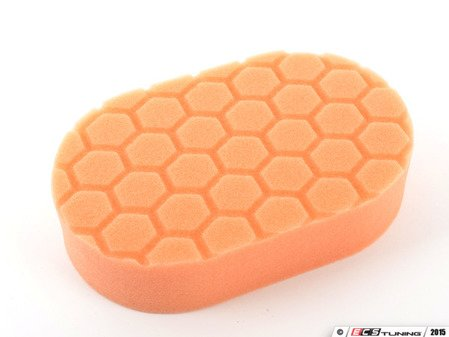 "ES#2619109 - BUFX201 -  Orange Hex Logic medium Cutting hand Pad - Great for use with medium to heavy cutting compounds. 3""x6""x1"" - Chemical Guys - Audi BMW Volkswagen Mercedes Benz MINI Porsche"
