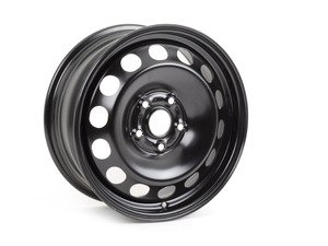 "ES#1884427 - 1K0698027 - 16"" Steel Wheels - Set Of Four - 16""x6.5"" ET50 5x112 - Rally Black - Genuine Volkswagen Audi - Audi Volkswagen"