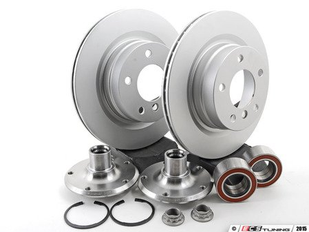 ES#2762927 - 33416760056KT - Rear Hub Conversion Kit - Reduces rear hub offset by 10mm to increase wheel choices - Assembled By ECS - BMW