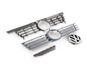 ES#261272 - 1J5853651KGRU - Grille Assembly - Primed - Complete grille assembly from 1999-2003 models, including VW emblem - Genuine Volkswagen Audi - Volkswagen