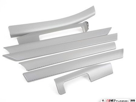 ES#100094 - 51417896090 - Silver Cube Interior Trim Kit - Does not include center console trim - Genuine BMW -