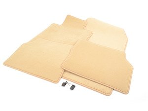 ES#1827566 - Q6680205 - Carpeted Floor Mat Set - Parchment - Genuine Mercedes Benz - Mercedes Benz