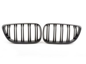 ES#2973052 - 015737ECS01A - Dual Slats Blackout Grille Set - Matte Black - Add style and individuality to your BMW in minutes! - ECS - BMW