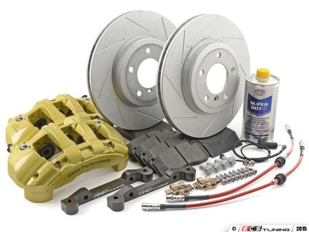 ES#2999152 - 341136467KT - ECS 6-Piston Front Big Brake Kit (325x25) - Give your BMW incredible stopping power - featuring 1-piece slotted ECS GEOMET coated rotors. - Assembled By ECS - BMW
