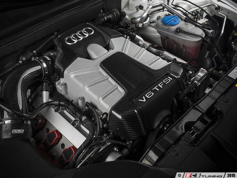 Ecs News Ecs Carbon Fiber Engine Cover Kit B8 S4s5 30t