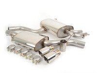 """ES#2827251 - SSXAU030 - Cat-Back Exhaust System - Resonated - 2.5"""" stainless steel with twin 76.2mm polished tips - Milltek Sport - Audi"""