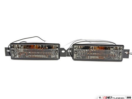 ES#2808015 - 3441602PXAEVS - Crystal Smoked Turn Signal / Parking Lamp - Set - Ditch those dull or broken ambers! - Depo - BMW
