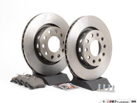 ES#2623292 - 4Z7615601KT2 - Rear Brake Service Kit - Featuring Pilenga rotors and Mintex red box pads - Assembled By ECS - Audi