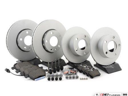 ES#2587627 - 40454112KT2 - Front & Rear Brake Service Kit - Includes Meyle Platinum Rotors and Vaico Pads - Assembled By ECS - Volkswagen