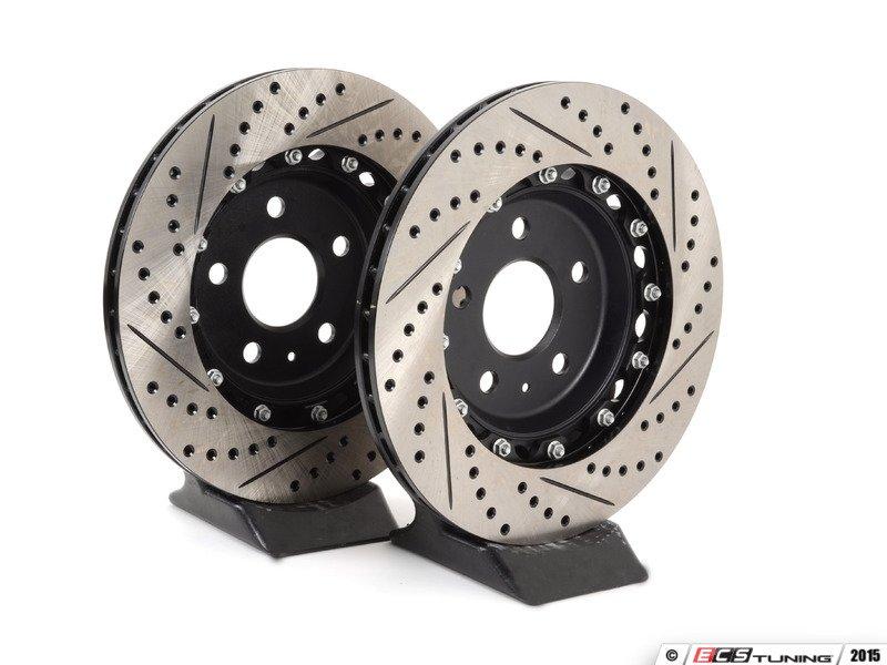 assembled  ecs ecs kt rear big brake kit ecs  piece cross drilled slotted