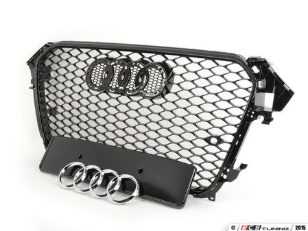 ES#3005990 - 015865ecs01KT - RS4 Mesh Style Grille - Black With Gloss Black Frame - Add a sleek new look to your front end with an RS style mesh grille - ECS - Audi