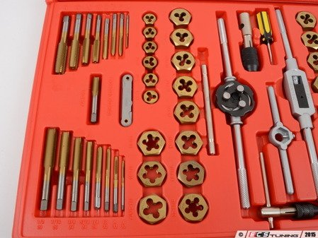 ES#2938373 - ATD276 - 76PC Metric Tap And Die Set - Made from Titanium coated alloy steel for durability and precision threading. You can do it all with complete kit. - ATD Tools - Audi BMW Volkswagen Mercedes Benz MINI Porsche
