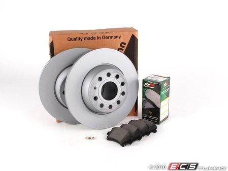 ES#257623 - 1K0698070 - ECS Rear Brake Service Kit - Includes Zimmerman Rotors & Akebono ceramic pads - Assembled By ECS -