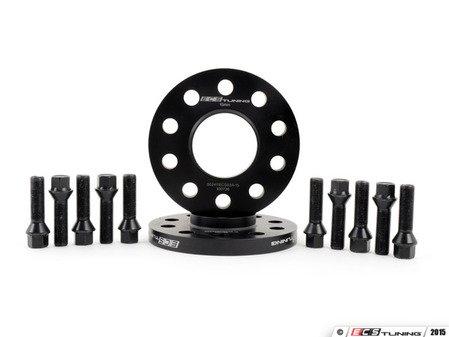 ES#3006111 - 002411ecsKT17 - ECS 15mm Wheel Spacer Kit & ECS Conical Seat Bolt Kit - Aluminum wheel spacers & steel wheel bolt kit made specifically for your BMW & MINI 5x112 bolt pattern - ECS - BMW MINI