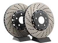 ES#2999284 - 009085ECS01KT - Front 2-Piece Brake Rotors - Pair (321x30) - Direct bolt-on replacement - 24% less weight! - ECS - Audi