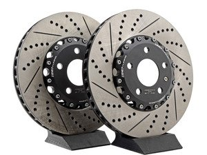 ES#2999284 - 009085ECS01KT - Front 2-Piece Brake Rotors - Pair (321x30) - Direct bolt-on replacement - 24% less weight! - ECS - Audi