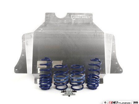 ES#2996719 - 50343-77KT - H&R Super Sport Springs WITH ECS Street Shield - Upgrade looks and handling with super sport springs while adding protection with the ECS Tuning Aluminum Street Shield - Assembled By ECS -