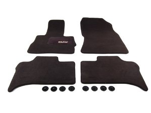ES#194607 - 82110008635 - Carpeted Floor Mat Set - Anthracite - Matching protecting for your carpet - Genuine BMW - BMW