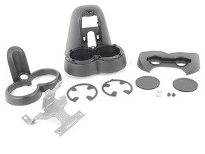 ES#2975757 - 51169813055KT - Rear Cup Holder Retrofit Kit - With Front Center Armrest R60 - Upgrade and add those extra cup holders right behind the center rail - Genuine MINI - MINI