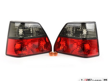 ES#9459 - FKRL24 - FK Smoke/Red Look Tail Lamp Set - Smoke/Red Look left & right taillights for your Mk2 Golf - FK - Volkswagen