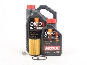 ES#2827054 - MK7TDIKT3 -  Oil Service Kit  - Includes Genuine oil filter and Motul 8100 X-Clean+ 5w-30 oil - Assembled By ECS - Audi Volkswagen