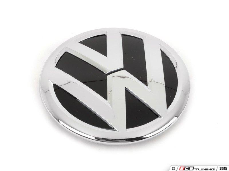 genuine volkswagen audi 3c8853601afxc front grille emblem chrome black 3c8 853 601 a fxc. Black Bedroom Furniture Sets. Home Design Ideas