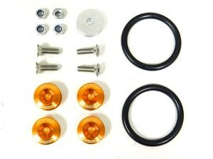 ES#3006102 - AR0600OG - Bumper Quick Release Kit - Orange - Universal kit to quickly release your front bumper - Arospeed - BMW Volkswagen