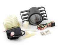 ES#3010052 - 216evowgbomk5KT - ECS Angled Vent Pod & EVO Series Digital Boost Gauge Kit - Digital boost gauge with dimmable green or white backlighting with ECS angled vent pod - Assembled By ECS - Volkswagen
