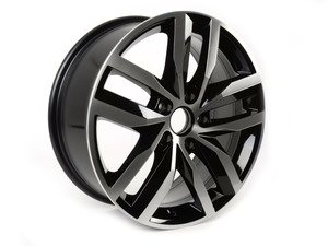 "ES#2742983 - 5G0601025BTFZZ - 17"" Madrid - Priced Each  - 17""x7"" ET49 5x112 - Aluminum/Gloss Black - Genuine Volkswagen Audi - Volkswagen"