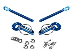 ES#3021823 - HP0100BL - Sparco Aluminum Hood Pin Kit - Blue - Aluminum lightweight hood pins to keep your carbon fiber hood in place - Sparco - Volkswagen