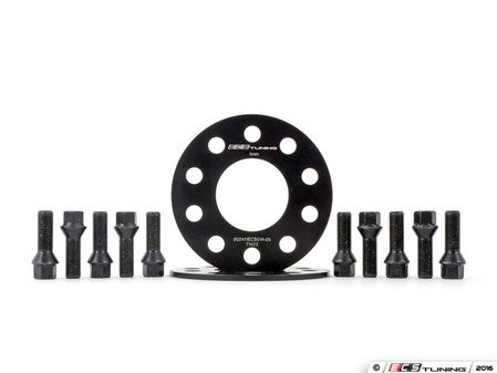 ES#3006221 - 002411ecsKT21 - ECS 5mm Wheel Spacer Kit & ECS Conical Seat Bolt Kit - Aluminum wheel spacers & steel wheel bolt kit made specifically for your BMW & MINI 5x112 bolt pattern - ECS - BMW MINI