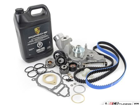 ES#2588594 - 94410515704KT41 - Ultimate Plus Timing Belt Kit With Water Pump - Features Gates Racing kevlar timing belt for added dependability - Assembled By ECS - Porsche