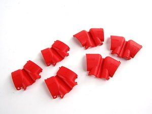 ES#261145 - 022906923 - Ignition Coil Cover Set - Red - Set Of 6 - Replace your damaged, or faded coil connector covers with this new complete set. - Genuine Volkswagen Audi - Audi Volkswagen
