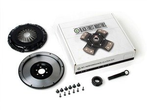 ES#3021866 - BFI25228ST5 - BFI 2.5L 228mm Clutch Kit and Lightweight Flywheel - Stage 5 - Includes a lightweight 4140 forged steel flywheel, performance pressure plate and 4-puck clutch disk. Rated for 375wtq. - Black Forest Industries - Volkswagen