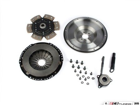 ES#3021850 - BFI20F240ST4 - BFI Stage 4 Clutch Kit - Forged Steel Flywheel (18.85lbs) - Includes a lightweight 4140 forged steel flywheel, performance pressure plate and sprung 6-puck ceramic clutch disk. Rated for 500wtq. - Black Forest Industries - Volkswagen