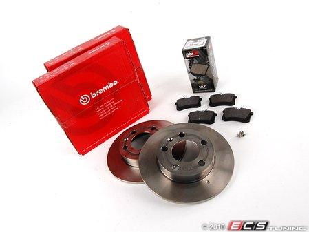 ES#257374 - 1J0698015 - Rear Brake Service Kit - Including Brembo Rotors & PBR Ceramic Pads - Assembled By ECS -