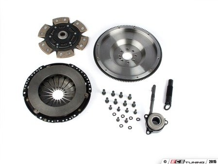 ES#3021855 - BFI20T240ST4 - BFI Stage 4 Clutch Kit - Forged Steel Flywheel (18.85lbs) - Includes a lightweight 4140 forged steel flywheel, performance pressure plate and sprung 6-puck ceramic clutch disk. Rated for 500wtq. - Black Forest Industries - Volkswagen