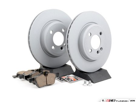 ES#2597272 - 34111502891KT17 - Front Brake Service Kit - Featuring Zimmerman rotors and Akebono pads - Assembled By ECS - MINI