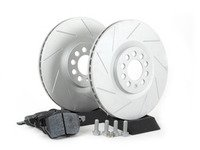 ES#2594085 - 8L0337PRFSL - Performance Front Brake Service Kit (312x25) - Featuring ECS GEOMET Slotted rotors and Hawk HPS pads - Assembled By ECS - Audi Volkswagen